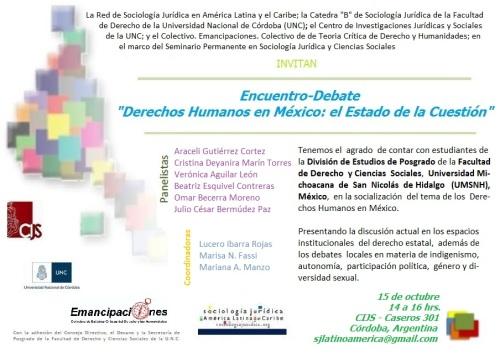 Panel encuentro debate